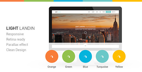 Light Landin Multipurpose Parallax Landing Page