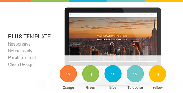 Plus Responsive Retina Ready One-Page Template