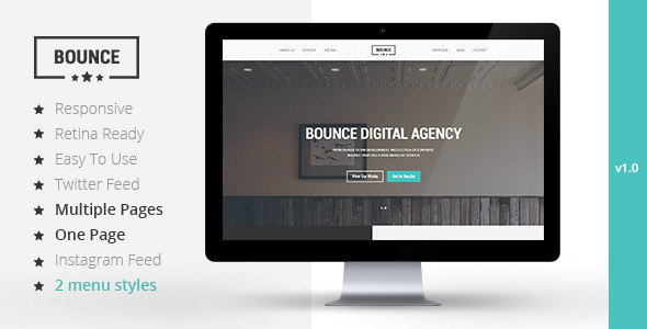 BOUNCE - Responsive Multipurpose Template