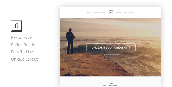 RIVAL Creative One Page Template